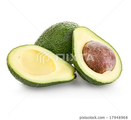 Fresh avocado isolated on white 17948968