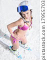 Standing on ski 17955703