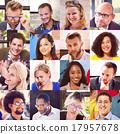 collage, diverse, faces 17957678