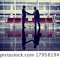 Businessmen Talking Business Airport Deal Concept 17958194