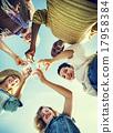 Beach Cheers Celebration Friendship Summer Fun Concept 17958384