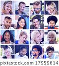 collage, diverse, faces 17959614