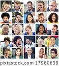 collage, diverse, faces 17960639