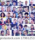 collage, diverse, faces 17961253