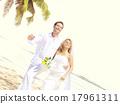 Couple Romance Beach Love Marriage Concept 17961311