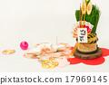 학과 소나무 장식 설날 장식 17969145