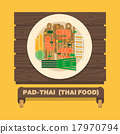 Thailand's national dishes,Thai noodles(Pad Thai) 17970794