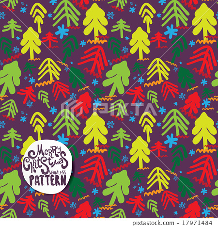 Color christmas trees on violet background 17971484