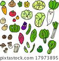 蔬菜 人物 一套 17973895