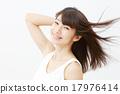 여성, 여자, 머리카락 17976414