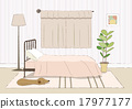 침실, 베드룸, 벡터 17977177