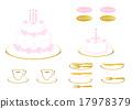 데코레이션 케이크와 황금 칼 17978379