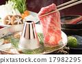 涮涮锅 牛肉涮涮锅 锅里煮好的食物 17982295