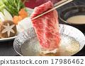 涮涮锅 牛肉涮涮锅 锅里煮好的食物 17986462