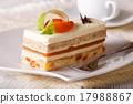 cake, apricot, plate 17988867