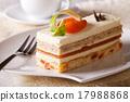 cake, apricot, plate 17988868