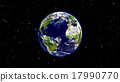 Planet Earth with asteroid in universe or space 17990770