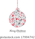 Christmas ball and icon vector illustration 17994742