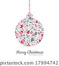Christmas ball and icon vector illustration 17994742