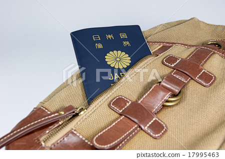 Passport and backpack 17995463