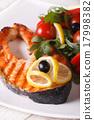 salmon steak grilled 17998382