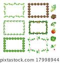 蔬菜 食品 裝飾門框 17998944