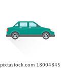 car, vector, style 18004845