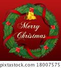聖誕花環 聖誕快樂 鈴鐺 18007575