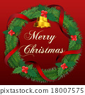 christmas wreath, merry christma, bell 18007575