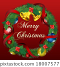 christmas wreath, merry christma, bell 18007577