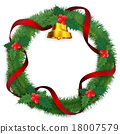 christmas wreath, bell, bells 18007579