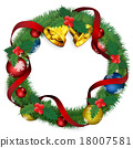 christmas wreath, bell, bells 18007581