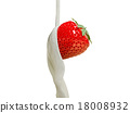 strawberries, strawberry, milk 18008932