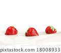 strawberries, strawberry, milk 18008933