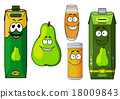 cartoon, pear, green 18009843