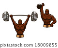 barbell, gym, cartoon 18009855