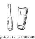 벡터, 이빨, 튜브 18009980