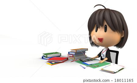 Female staff who do desk work 18011165