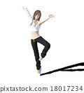 춤 여성 perming3DCG 일러스트 소재 18017234