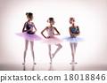 Three little ballerinas in dance studio 18018846