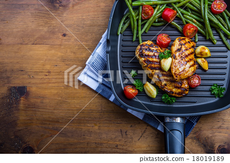 Stock Photo: Grilled chicken breast in different variations