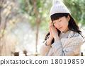冬天肖像婦女 18019859