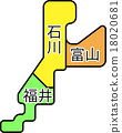 벡터, 지도, 지방 18020681