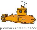 Yellow small submarine 18021722