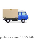 van delivery isolated 18027246