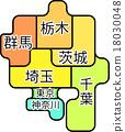 벡터, 지도, 지방 18030048