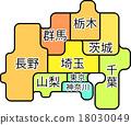 Regional Map Kanto Koushin Region 18030049