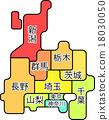 区域地图Kanto Koshinetsu Region 18030050