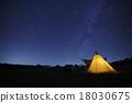 营地 露营 夜空 18030675