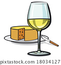 white wine and cheese 18034127
